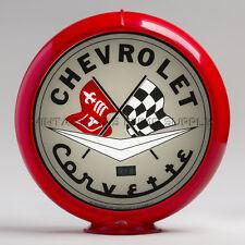 "Grey Corvette 13.5"" Gas Pump Globe w/ Red Plastic Body (G113)"