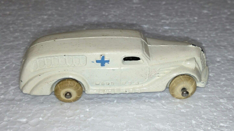 Ambulancia blancoo De Metal Diecast Vintage Hecho en EE. UU.