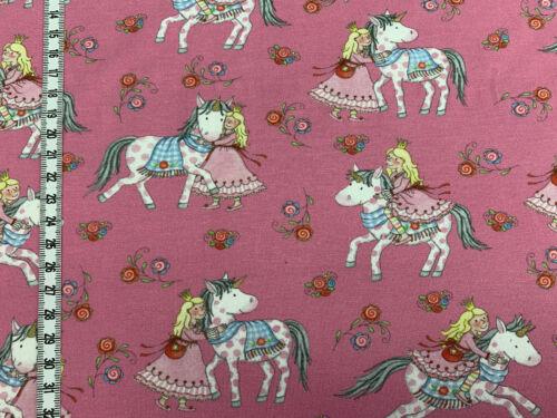 Jersey Pferd und Mädchen rosa//pink Steinbeck