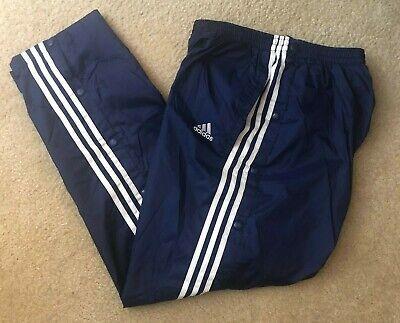Peregrino La selva amazónica Clip mariposa  Vintage Adidas Blue Button Tear Away Athletic Pants Size L RN#88387 CA#00411  EUC | eBay