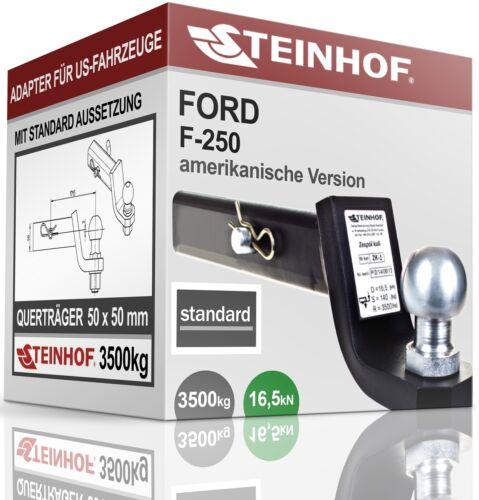 Für Ford F-250 Anhängerkupplung ADAPTER für US-FAHRZEUGE 50x50mm STANDARD NEU