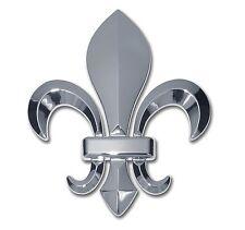 Fleur-de-Lis 3-D Chrome Auto Emblem Louisiana New Orleans Saints