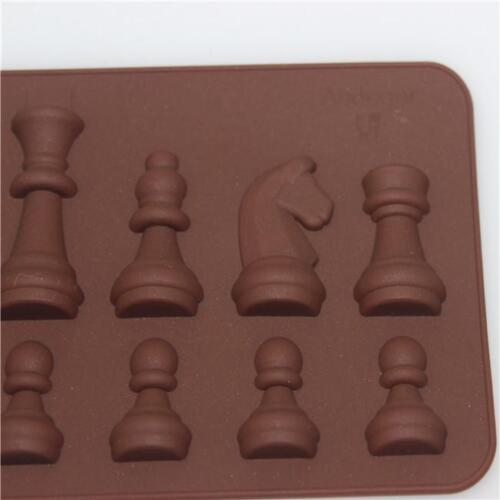 DIY Chess Shaped Silicone Mold Soap Cake Chocolate Cookie 3D Baking Tool IT