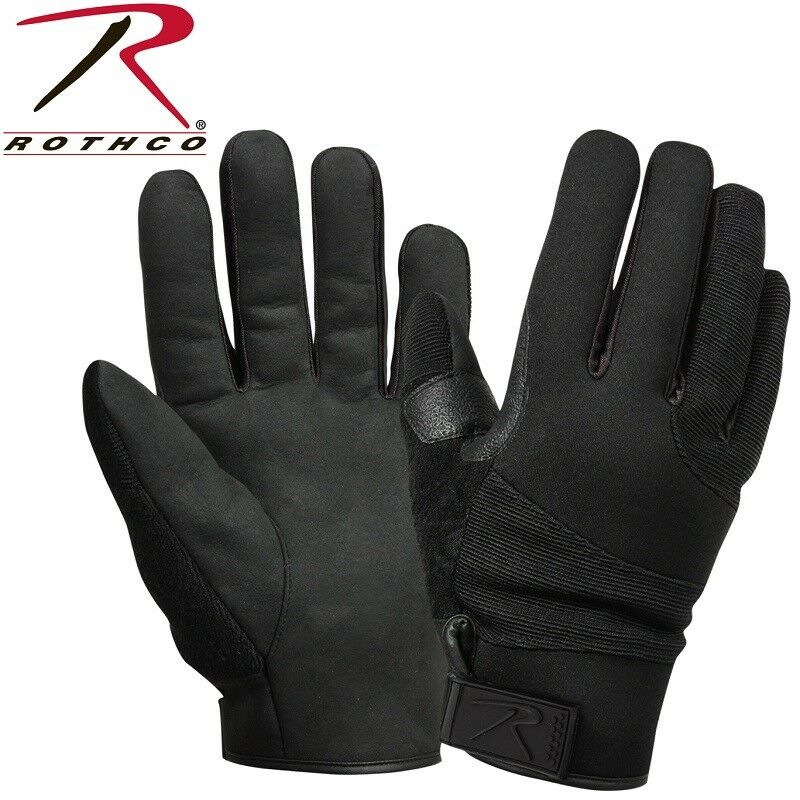 Black Cold Weather Cut Resistant Street Shield Police Gloves Rothco 4436
