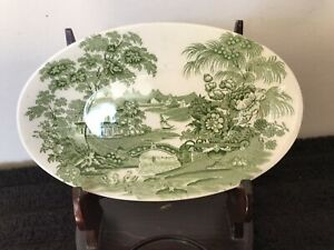 Royal-Staffordshire-Tonquin-By-Clarice-Cliff-Small-Platter-5-1-2-Long
