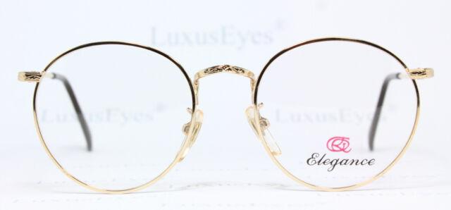 22K GOLD PLATED Elegance Brille Eyeglasses Occhiali Vintage 6179 Panto Lunettes