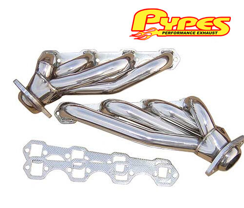 1986-1993 Mustang 5.0 PYPES Polished T304 Stainless Steel Shorty Headers