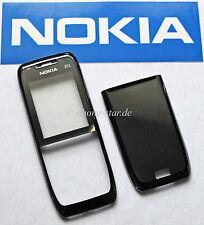 Original Nokia e51 a-cover Front Tapa batería Tapa trasera housing fascia Black Steel