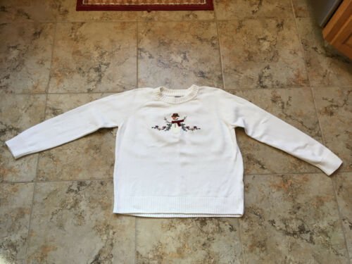 Artisans Apparel White Snowman Sweater