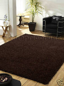 LARGE-THICK-CHOCOLATE-BROWN-PLAIN-SHAGGY-RUG-110x160cm