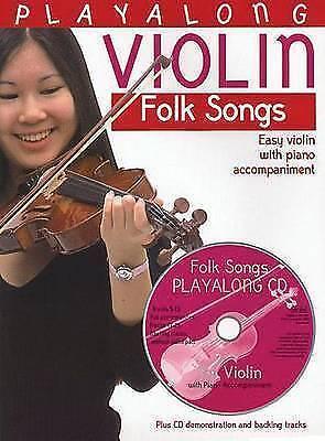 Playalong Violin: Easy Violin With Piano Accompaniment, Plus Cd Demonstration