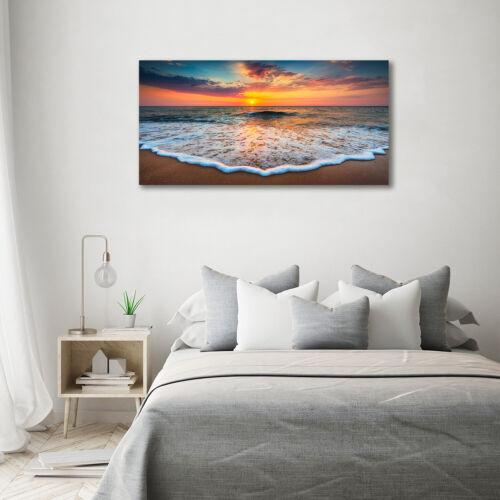 Leinwandbild Kunst-Druck 140x70 Bilder Landschaften Sonnenuntergang Meer