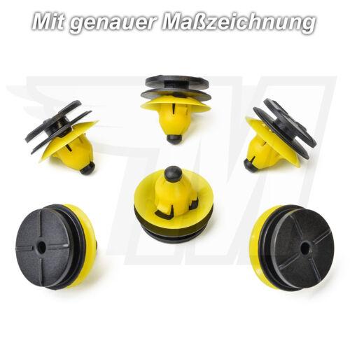 5x exterior revestimiento clips soporte de sujeción en amarillo para volvo30624192
