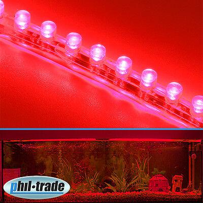 24cm 24 LED Leiste Streifen ROT Lichtleiste wasserdicht Aquarium Mondlicht
