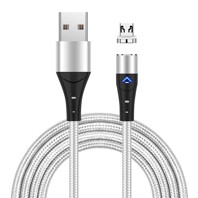 1m Silver Cble   Micro USB Plug