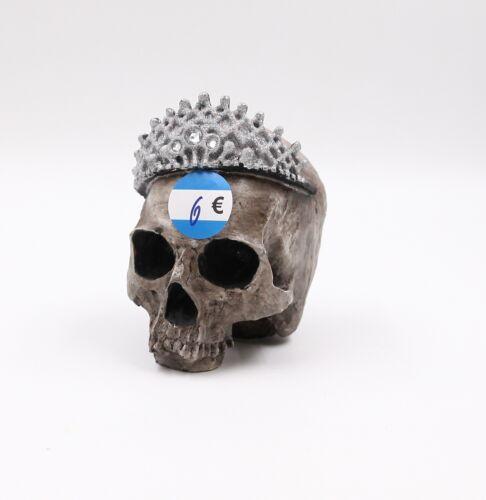 11 x 16 cm Kunstharz Deko-Figur Totenkopf Totenschädel Halloween Deko-Objekt