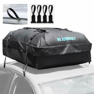 Rabbitgoo Car Roof Top Rack Bag Waterproof Luggage Carrier Heavy Duty Straps