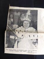 L1-9 Ephemera 1953 Slough Coronation Day Picture Victoria Clayton Barnefield Est