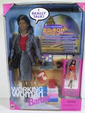 NIB BARBIE DOLL 1999 WORKING WOMAN BLACK AA