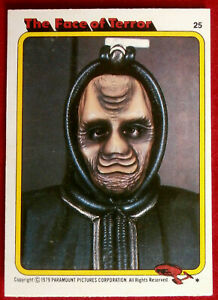 STAR TREK - MOVIE - Card #25 - THE FACE OF TERROR - TOPPS 1979