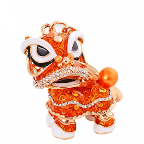New Dancing Lion Keychain Car Pendant Fashion Girls Bag  Accessory Chinese Style