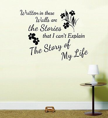 One Direction 1 D Story of My Life Song Music Vinyl Sticker Wall Art