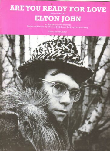 Elton John         Are You Ready For Love      US Sheet Music