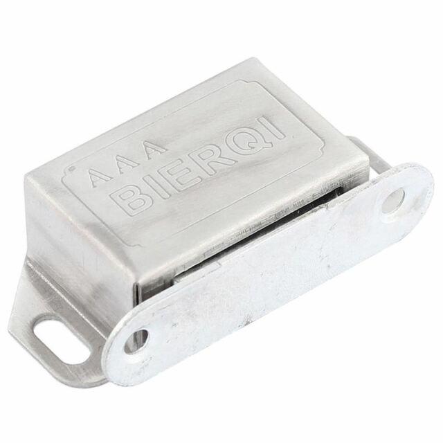 1X(Tuer Kabinett Schrank Edelstahl Magnetverschluss Stopper-Halter Silber Ton DA