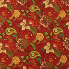 "MILL CREEK WEXFORD BERRY RED FLORAL OUTDOOR FURNITURE FABRIC BY THE YARD 54/""W"