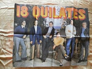 CARTEL-POSTER-GRUPO-MUSICAL-18-QUILATES-ANOS-70