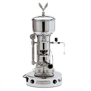 Image Is Loading Elektra Semiautomatica Microcasa Espresso Amp Cappuccino Machine Chrome