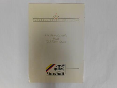 1988 Vauxhall// Lotus Challenge Press Kit GM Euro Sport Press Release Photo