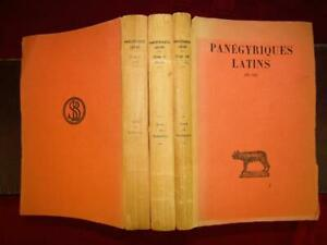 PANEGYRIQUES-LATINS-by-EDOUARD-GALLETIER-3-BOOKS-ANCIENT-ROMAN-LATIN-RARE-1949