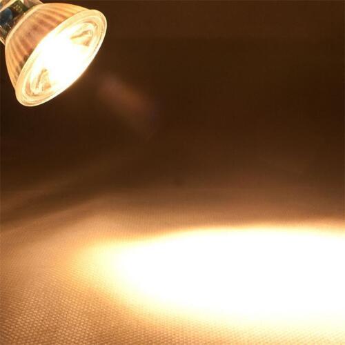 5 x COB mr16 verre Ampoules blanc chaud 230lm projecteur ampoule spot lampe 12v 3w