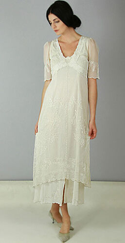 Nataya  Romantic Titanic Victorian Dress Ivory 40007  Sizes S-3XL Vintage look