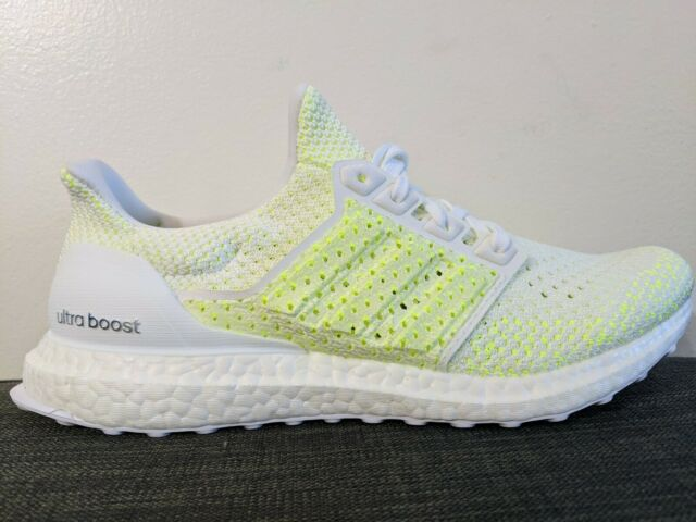 Adidas Mens Ultra Boost Clima Solar Yellow White Size 9.5 Running Shoes AQ0481