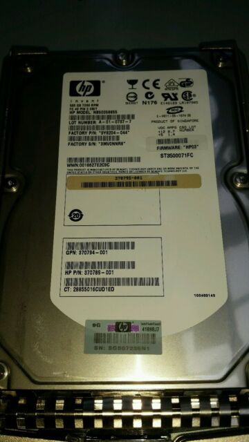 HP 370790-B22 371142-001 370789-001 500GB DUAL 7.2K DUAL PORT FATA HARD DRIVE