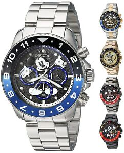 Invicta-Disney-Limited-Edition-Men-039-s-44mm-Chronograph-Watch-Choice-of-Color