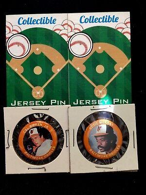 -o's 2 Eddie Murray-collectables- Treu Baltimore Orioles Pinbacks-cal Ripken