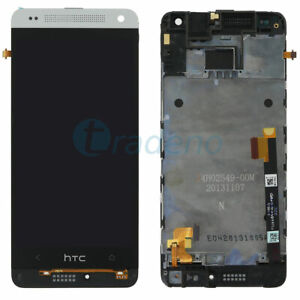 HTC-One-Mini-M4-Display-LCD-Touch-Screen-Glas-Scheibe-Silber-Weiss-Silver-Blanc