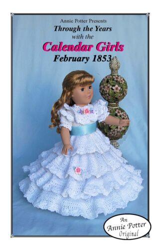 "Crochet doll pattern /""Calendar Girls 1853/"" 18 inch"