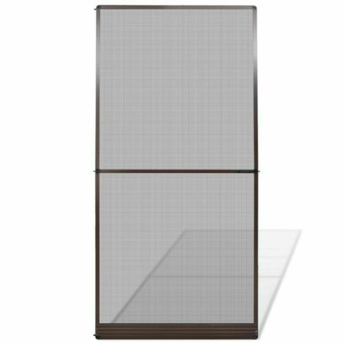 Hinged Insect Screen for Doors Curtain White//Brown 100x215cm//120x240cm