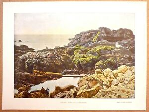 Logique La Pointe De Penmarch - Photochromie Fin 19ème Gravure Finistère Bretagne