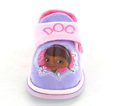Chicas Disney Doc Mcstuffins Zapatillas Zapatos Rosa Lila Para Niños Talla Uk 4 - 10