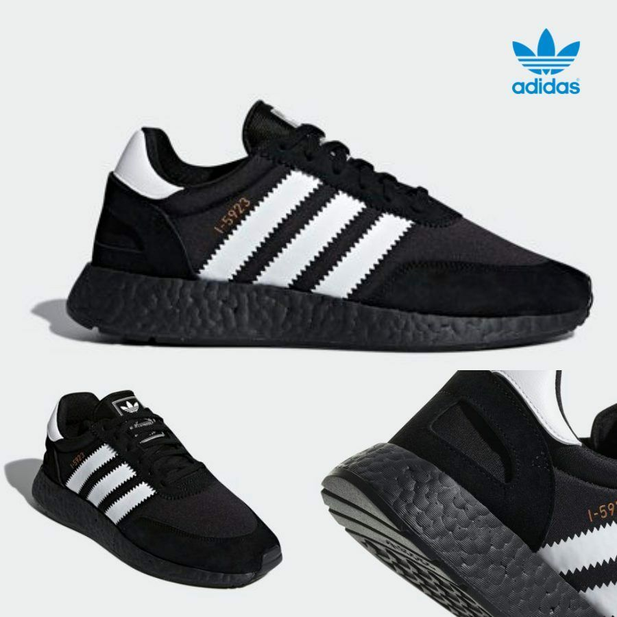 Adidas I-5923 Iniki Original courirner Boost Chaussures Noir Blanc CQ2490 Taille 4-13