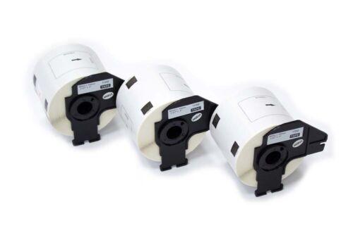 QL-650TD 3 ROLLEN ETIKETTEN 62x100mm STANDARD für BROTHER P-touch QL-650