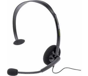 GAMING HEADSET XBOX 360 Official Microsoft Xbox Live Black Chat * NEW