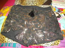 NEW + TAGS * H&M * BLACK / SLIVER SEQUINNED, BOXER SHORTS SIZE 10 RRP £40