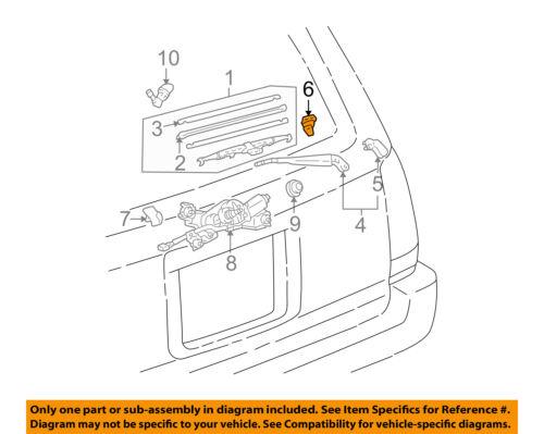 TOYOTA OEM Wiper Washer-Liftgate Tailgate Hatch-Wiper Arm Slider 8524735010