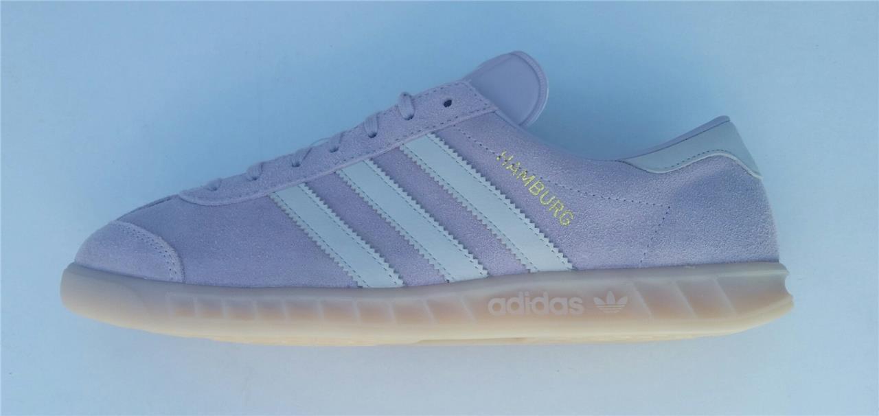 Adidas Damen Hamburg Turnschuhe Retro Neu Eis Lila Retro ba8411 Eu 36, UK 8.5